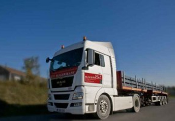 Transports Guy Magermans par semi-remorque extensible